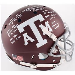Johnny Manziel Signed  Texas AM Aggies Custom Matte Maroon Full-Size Authentic On-Field Helmet With