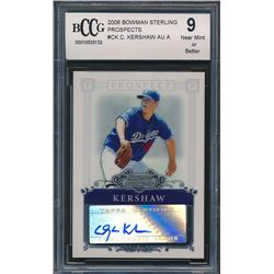 2006 Bowman Sterling Prospects #CK Clayton Kershaw Autograph (BCCG 9)