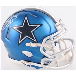 Emmitt Smith Signed Cowboys Mini Blaze Speed Helmet (Schwartz COA  Prova Hologram)