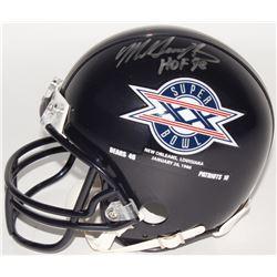"Mike Singletary Signed Bears Super Bowl XX Mini Helmet Inscribed ""HOF 98"" (Schwartz COA)"
