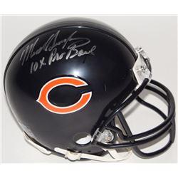 "Mike Singletary Signed Bears Mini Helmet Inscribed ""10x Pro Bowl"" (Schwartz COA)"