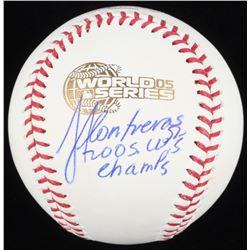 "Jose Contreras Signed 2005 World Series Baseball Inscribed ""2005 WS Champs"" (Schwartz COA)"