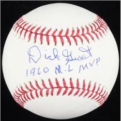 """Dick Groat Signed OML Baseball Inscribed """"1960 NL MVP"""" (Schwartz COA)"""