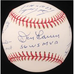Yankees World Series MVP's OML Baseball with Multiple Inscriptions Signed by (6) with Ralph Terry, B