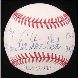 Carlton Fisk Signed OML Baseball with Multiple Inscriptions (AI Verified COA)