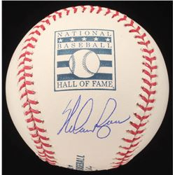 Nolan Ryan Signed Hall of Fame Logo Baseball (AI Verified COA  Ryan Hologram)