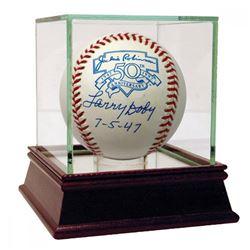 "Larry Doby Signed Commemorative Jackie Robinson Logo Baseball Inscribed ""7-5-47"" (JSA Hologram)"