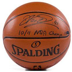 "Dirk Nowitzki Signed LE NBA Game Ball Series Basketball Inscribed ""10/11 NBA Champs"" (Panini COA)"