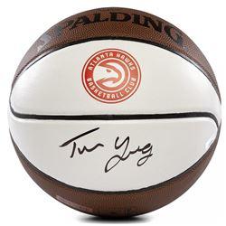 Trae Young Signed Hawks Logo Basketball (Panini COA)