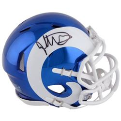 Todd Gurley Signed Rams Chrome Mini Speed Helmet (Fanatics Hologram)