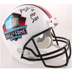 """Brian Urlacher Signed Hall of Fame Commemorative Full-Size Helmet Inscribed """"HOF 2018"""" (JSA COA)"""