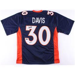 """Terrell Davis Signed Broncos Jersey Inscribed """"HOF 17"""" (Radtke COA)"""
