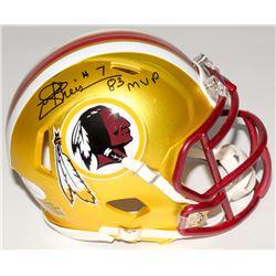 "Joe Theismann Signed Redskins Mini Blaze Speed Helmet Inscribed ""83 MVP"" (JSA COA)"
