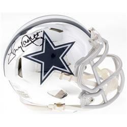 Tony Dorsett Signed Cowboys Mini Chrome Speed Helmet (JSA COA)