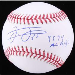 "Frank Thomas Signed OML Baseball Inscribed ""93, 94 AL MVP"" (Schwartz COA)"