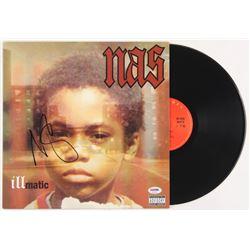 "Nas Signed ""Illmatic"" Vinyl Record Album Cover (PSA COA)"