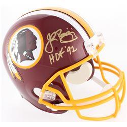 "John Riggins Signed Redskins Full-Size Helmet Inscribed ""HOF 92"" (JSA COA)"