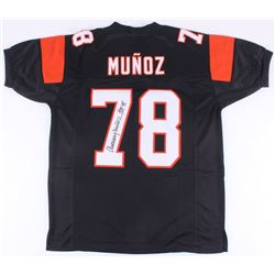 "Anthony Munoz Signed Bengals Jersey Inscribed ""HOF 98"" (JSA COA)"