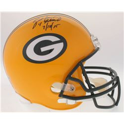"Brett Favre Signed Packers Full-Size Helmet Inscribed ""4 Retired ""7/18/15"" (Radtke COA)"