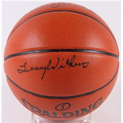 Lenny Wilkins Signed Game Ball Series Basketball (Schwartz COA)