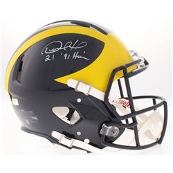 "Desmond Howard Signed Michigan Wolverines Full-Size Authentic On-Field Speed Helmet Inscribed ""Heism"