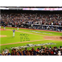 "Mike Montgomery Signed Cubs LE 16x20 Photo Inscribed ""Last Pitch"", ""GM 7 Save""  ""16 WS Champs"" (Schw"