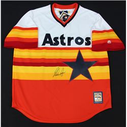 Nolan Ryan Signed Astros Throwback Jersey (TriStar Hologram)