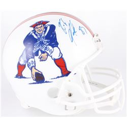 Rob Gronkowski Signed Patriots Full-Size Throwback Helmet (Radkte COA)