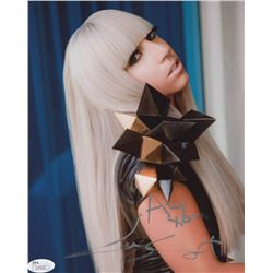 Lady Gaga Signed 8x10 Photo with Inscription (JSA COA)