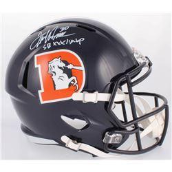 "Terrell Davis Signed Broncos Full-Size Speed Color Rush Helmet Inscribed ""SB XXXII MVP"" (Radtke COA)"