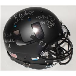 Warren Sapp Signed Miami Hurricanes Custom Matte Full-Size Authentic On-Field Helmet with (4) Inscri