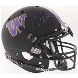 Marcus Peters Signed Washington Huskies Full-Size On-Field Matte Black Helmet (Radtke COA)