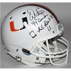 "Warren Sapp Signed Miami Hurricanes Full-Size Helmet Inscribed ""94 Lombardi""  ""All About The U"" (JSA"