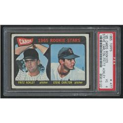 1965 Topps #477 Rookie Stars Fritz Ackley / Steve Carlton RC (PSA 4)