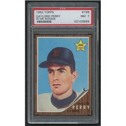 1962 Topps #199 Gaylord Perry RC (PSA 7)