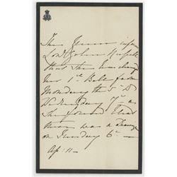 Queen Victoria Hand-Written Letter (JSA LOA)