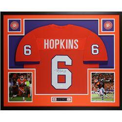 DeAndre Hopkins Signed Clemson Tigers 35x43 Custom Framed Jersey Display (JSA COA)