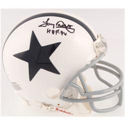 "Tony Dorsett Signed Cowboys Throwback Mini Helmet Inscribed ""HOF 94"" (JSA COA)"