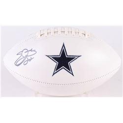 Emmitt Smith Signed Cowboys Logo Football (PSA COA)