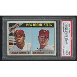 1966 Topps #254 Rookie Stars Fergie Jenkins RC Bill Sorrell RC (PSA 5)