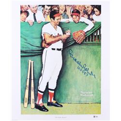 "Brooks Robinson Signed Orioles ""Gee Thanks, Brooks!"" 18x21.25 Lithograph Inscribed ""HOF 83"" (Beckett"
