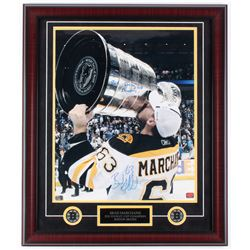 "Brad Marchand Signed Bruins ""2011 Stanley Cup Champion"" 23x27 Custom Framed Photo Display Inscribed"
