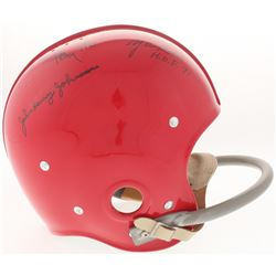 The Million Dollar Backfield Suspension Full-Size Helmet Signed By (4) With Y.A. Tittle, Hugh McElhe