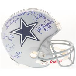 "Doomsday Defense I  II Cowboys Full-Size Helmet Signed by (7) with Bob Lilly, Ed ""Too Tall"" Jones, R"