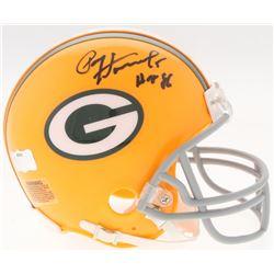"""Paul Hornung Signed Packers Mini-Helmet Inscribed """"HOF 86"""" (Radtke COA)"""