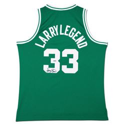 "Larry Bird Signed ""Larry Legend"" Celtics Jersey (UDA COA)"
