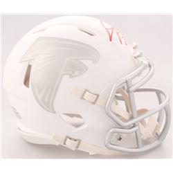 Devonta Freeman Signed Falcons White ICE Speed Mini-Helmet (Radtke COA)