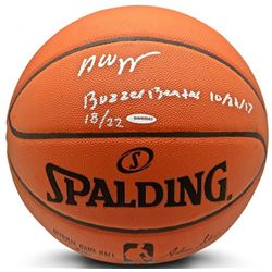 """Andrew Wiggins Signed LE NBA Official Game Ball Series Basketball Inscribed """"Buzzer Beater 10/22/17"""""""