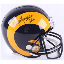 "Jack Youngblood Signed Rams Full-Size Throwback Helmet Inscribed ""HF '01"" (Schwartz COA)"