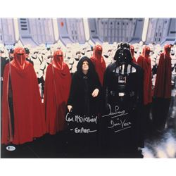 "Ian McDiarmid  David Prowse Signed ""Star Wars"" 16x20 Photo Inscribed ""- Emperor""  ""Is Darth Vader"" ("